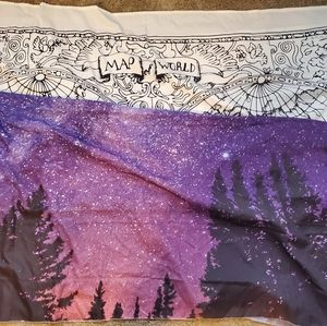 bundle of 2 wall flags / tapestries